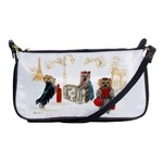 Travelling Yorkies in Paris Shoulder Clutch Bag