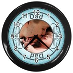 Dad Black Wall Clock - Wall Clock (Black)