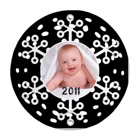 Snowflake 2011 Single Side Filigree Christmas Ornament By Catvinnat Front