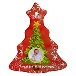 Merry Christmas 2011 Tree Ornament Double Sided - Christmas Tree Ornament (Two Sides)
