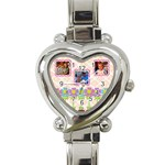 k watch - Heart Italian Charm Watch