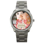 baby birthday - Sport Metal Watch