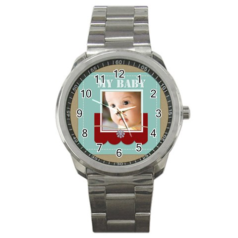 Baby By Joely   Sport Metal Watch   Osu86ch5x8ph   Www Artscow Com Front