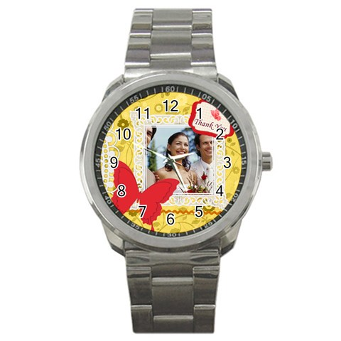 Thank You By Joely   Sport Metal Watch   Rtiyfdgcw5v2   Www Artscow Com Front