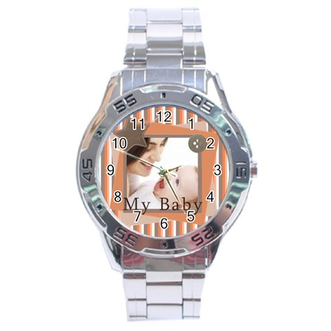 My Baby By Joely   Stainless Steel Analogue Watch   Y6qipu9b6z2s   Www Artscow Com Front