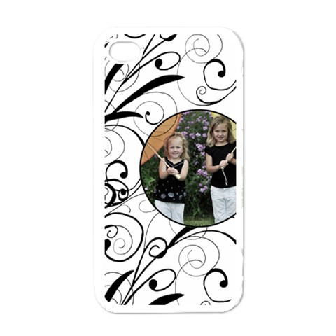 Swirl Iphone4 Case By Amanda Bunn   Apple Iphone 4 Case (white)   Rzckzj609ivd   Www Artscow Com Front