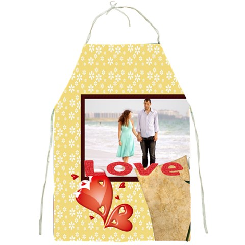 Love By Wood Johnson   Full Print Apron   Dkyxoasqzzur   Www Artscow Com Front