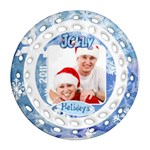 Jolly Holidays 2011 Single Sided Filigree Ornament - Ornament (Round Filigree)