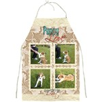 Puppy Love Pawprints in my Heart Full Print Apron