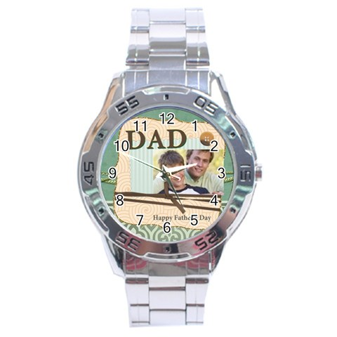 Dad By Joely   Stainless Steel Analogue Watch   Sgb9v47jnpsp   Www Artscow Com Front