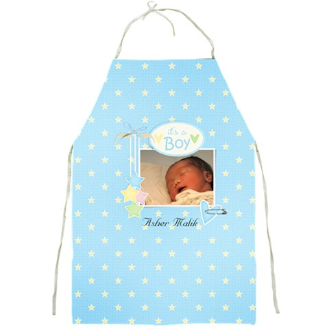 Apron  It s A Boy By Jennyl   Full Print Apron   Yzgcsx00sum9   Www Artscow Com Front