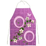 Spring flower floral pink purple apron - Full Print Apron