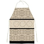 Black and Champagne Full Print Apron