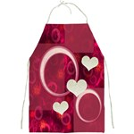 I Heart You hot pink apron - Full Print Apron