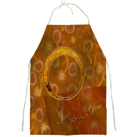 I Heart You Love Gold Apron By Ellan   Full Print Apron   Jyjh0csv5fcj   Www Artscow Com Front
