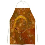 I Heart You Love Gold apron - Full Print Apron