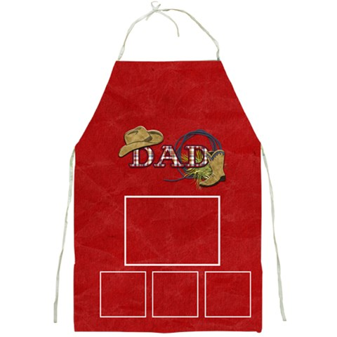Fathers Day Apron By Lisa Minor   Full Print Apron   Qq6v76i5whuy   Www Artscow Com Front