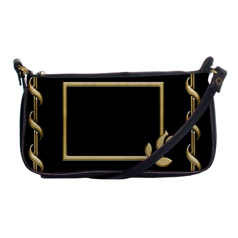 Black And Gold Shoulder Clutch By Deborah   Shoulder Clutch Bag   Uzxtw8611r18   Www Artscow Com Front