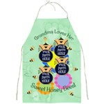 Grandma Loves Her Sweet Honey Bees Apron - Full Print Apron