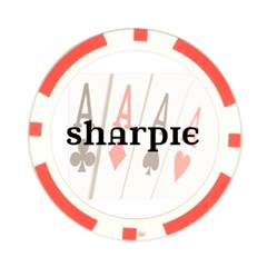 Sharpie Poker Night Black By Jenny   Poker Chip Card Guard   Ur046361k16t   Www Artscow Com Front