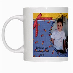 Jordan Strawberry Mug 2011 By Eleanor Norsworthy   White Mug   Ona5ehfvds5j   Www Artscow Com Left