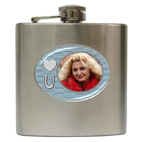 Love You Hip Flask By Deborah   Hip Flask (6 Oz)   C1nx2dz55t0x   Www Artscow Com Front