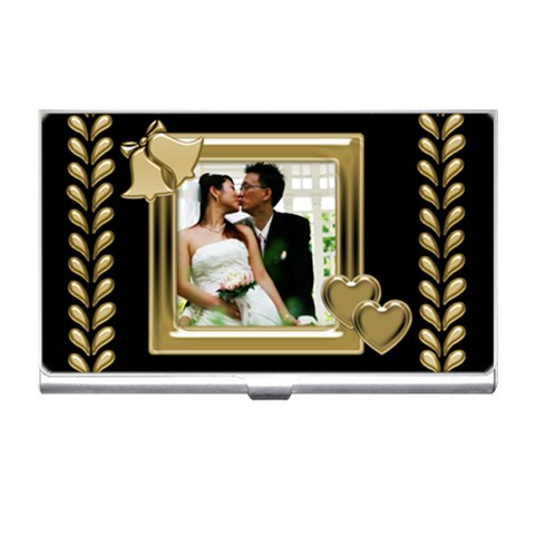 Our Wedding Business Card Holder By Deborah   Business Card Holder   De2ftwz3dqro   Www Artscow Com Front