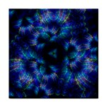 Fractal Blue Dreams Tile Coaster