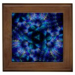 Fractal Blue Dreams Framed Tile
