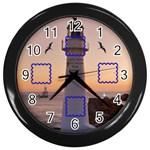 Photo light house  black clock - Wall Clock (Black)