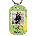 Fun green and colorful letters DAD or father s day photo dog tags - Dog Tag (Two Sides)