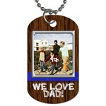 Wood look dogtag with photo and custom text - Dog Tag (Two Sides)
