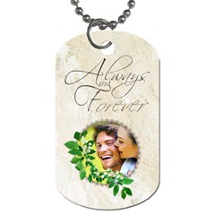 You & Me Always & Forever Double Sided Dog Tag By Catvinnat   Dog Tag (two Sides)   1uq42w9y57o4   Www Artscow Com Front