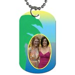 Vacation Luggage (2 sided) dog Tags - Dog Tag (Two Sides)