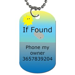 Vacation Luggage (2 Sided) Dog Tags By Deborah   Dog Tag (two Sides)   U0hg4niiib9k   Www Artscow Com Back