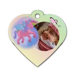 Unicorn school Bag Dog Tag (2 sided) - Dog Tag Heart (Two Sides)