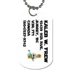 Kaleb s Dog Tag By Niki Frew   Dog Tag (two Sides)   85p7o0dio5oq   Www Artscow Com Back