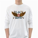 all stars black crown design Long Sleeve T-Shirt