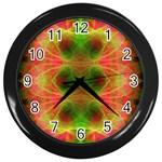 Fractal Fluro 005 Wall Clock (Black)