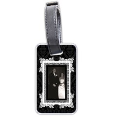 Fancy Black & White Luggage Tag By Klh   Luggage Tag (two Sides)   Sif5s5djkaaf   Www Artscow Com Back