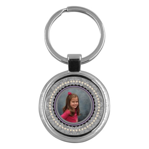 Royal Silhouette Key Ring By Klh   Key Chain (round)   8i09ib0gov5t   Www Artscow Com Front
