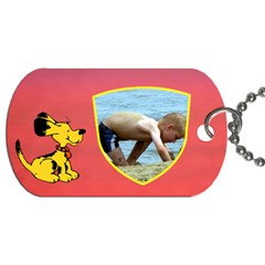 Puppy School Bag Dog Tag (2 Sided) By Deborah   Dog Tag (two Sides)   Rqieof9lzhoi   Www Artscow Com Front
