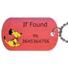 Puppy School Bag Dog Tag (2 Sided) By Deborah   Dog Tag (two Sides)   Rqieof9lzhoi   Www Artscow Com Back