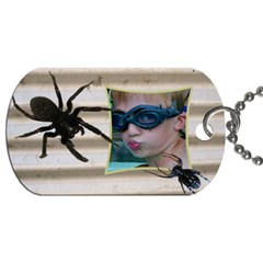 Spider School Bag Dog Tag (2 Sided) By Deborah   Dog Tag (two Sides)   O2z8c5g49pxa   Www Artscow Com Front