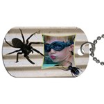 Spider School Bag Dog Tag (2 sided) - Dog Tag (Two Sides)