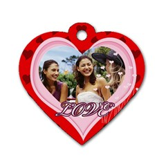 Love By Joely   Dog Tag Heart (two Sides)   3hyrrdcmsl53   Www Artscow Com Front