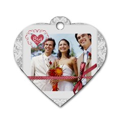 Wedding  By Joely   Dog Tag Heart (two Sides)   3bfjo2yllb6h   Www Artscow Com Front