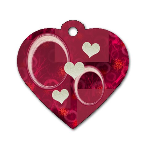 I Heart You Hot Pink Heart Dog Tag By Ellan   Dog Tag Heart (one Side)   1wizy7j32hww   Www Artscow Com Front