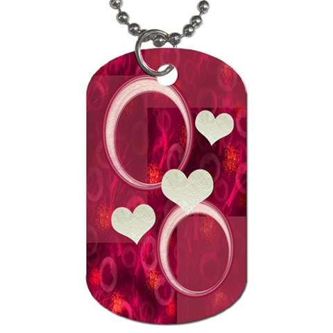 I Heart You Hot Pink Dog Tag By Ellan   Dog Tag (one Side)   Dx8iutawl3qs   Www Artscow Com Front