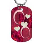I Heart You hot pink dog tag - Dog Tag (One Side)